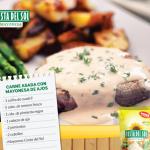Carne asada con mayonesa de ajos